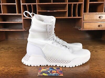 info for 4d35e 739f8 Adidas Originals AF 1.3 Primeknit Boots Winter Pack White BY3007 Mens Size  10