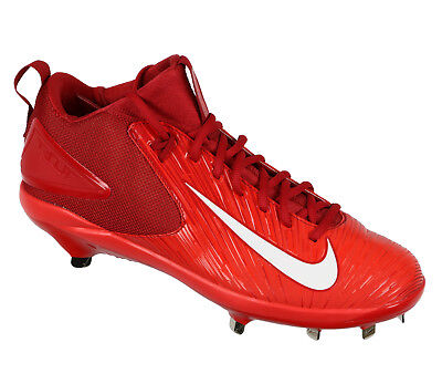 new product f2d30 54208 Nike Truite 3 Pro Basse Métal Baseball Cale Taille 12 Rouge Blanc MLB