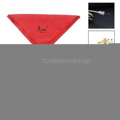 Trumpet Maintenance Cleaning Care Kit Set Cleaning Cloth Flexible Brush Hot Y2J9
