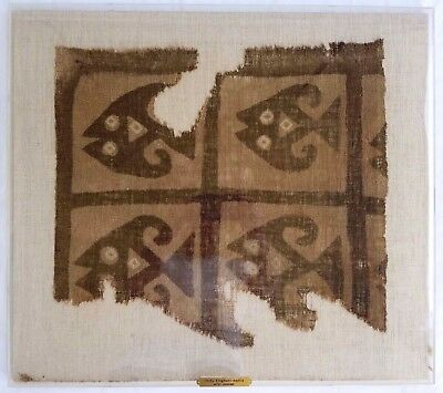 Pre Colombian Ancient Chimu Mantle Cloth Fragment 900-1400 AD