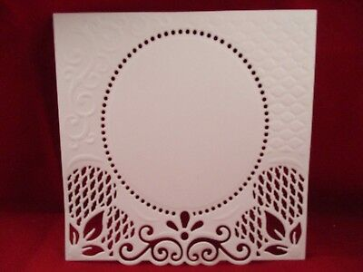 4 Decorative Cardmaking Mats Die Cuts...........white........style 3