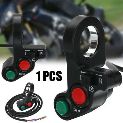 "Motorcycle 3in1 Horn Turn Signal Light Switch Fit For 7/8"" Handlebar Dirt Bike"