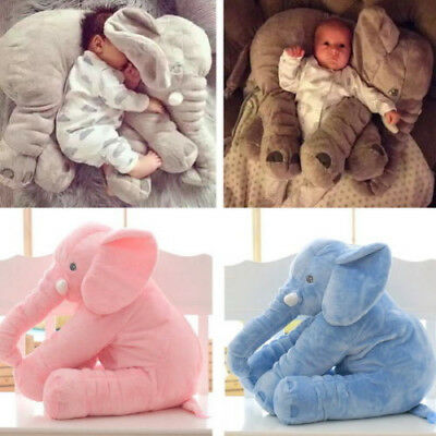 Baby Child Elephant Lumbar Pillow Long Nose Doll Pillow Soft Plush Stuff Toy