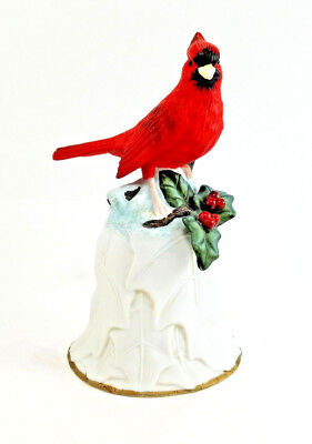 Avon Red Cardinal Porcelain Collector's Bell - 2nd in Series 2000