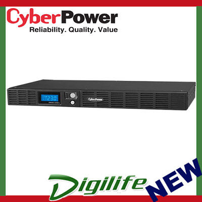 CyberPower Smart App Office Rackmount LCD 1U 600VA/360W UPS OR600ELCDRM1U