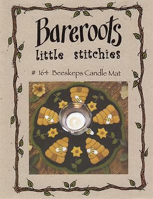 Bareroots Little Stitchies 164 Beeskeps Bee Hive Kerze Mat Muster