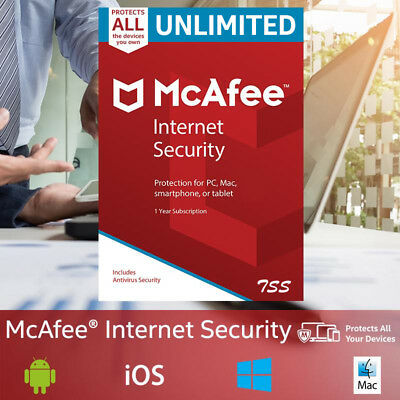 McAfee Internet Security 2019 UNLIMITED MULTIDEVICE 1YEAR WORLDWIDE Antivirus