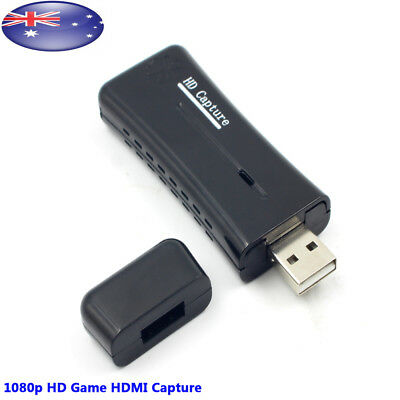 USB 2.0 Video Capture Converter- HD 1080P Game Video Capture Card Monitor for PC