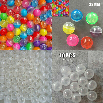 10/20pcs Transparent PP Vending Machine Empty Round Toy Capsules 28mm 32mm