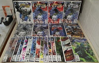 Batman Detective Comics DC NEW 52 0, #1-52 NM COMPLETE SET LOT (3D 1:25 Variant)