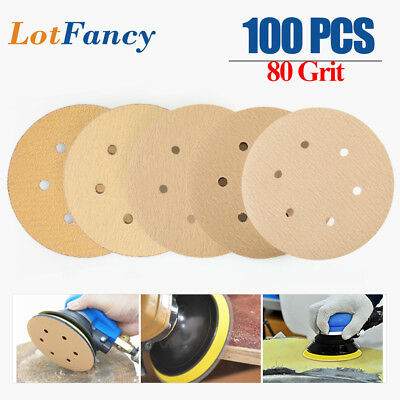 80 Grit 6 inch Sanding Discs Dustless Orbital Sander Sandpaper Hook and Loop Pad