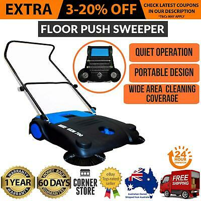 Commercial Industrial Large Area Floor Push Sweeper Floor Boards Clean New