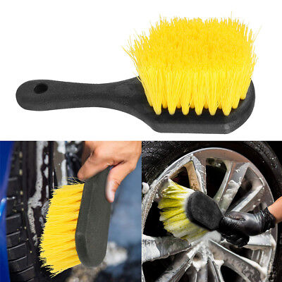 Short Handle Brush Car Wheel Tire Scrubber Chemical Resistant Detailing Brush