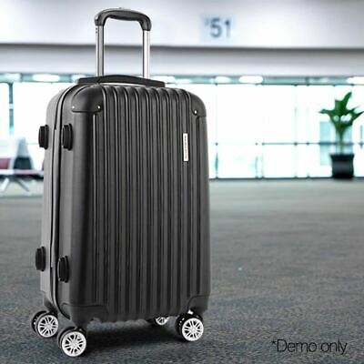 """Lightweight Travel Luggage Case Top Side Carrying Handle TSA Trolley Black 20"""""""