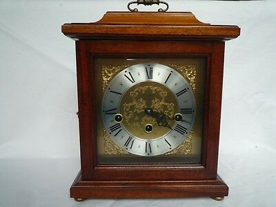 Woodford Mahogany Mantle Clock Westminster Chimes Franz Hermle 2 Jewels