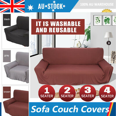AU Stretch Couch Sofa Lounge Covers Recliner 1/2/3 Seater Dining Chair Cover MQ