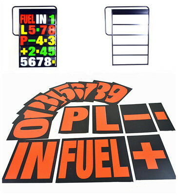 Lightweight Pit Signal Kit Aluminium Number Board & 37PCS Numbers Red