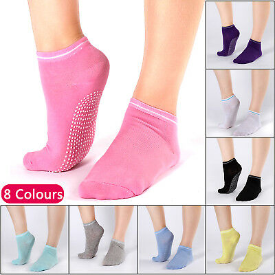 8 Pairs Yoga Socks Non Slip Pilates Sport Massage Ankle Socks Grip Exercise Gym