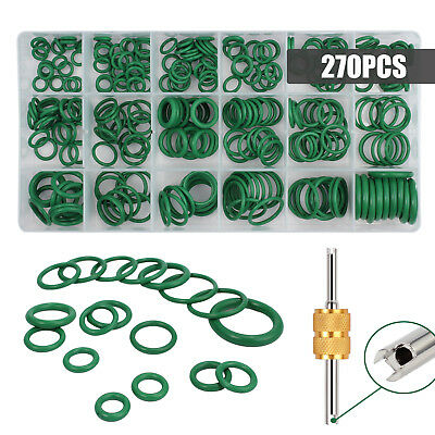 270PCS O Ring Assortment Kit 18 Sizes A/C System Air Conditioning HNBR AC Repair