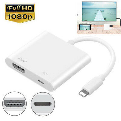 Lightning to HDMI TV AV Adapter Cable For Apple iPod&iPhone 7 8 Plus X XS 9 Lot