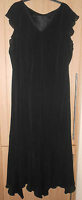 Unbranded Black Semi Fitted Fully Lined Evening Cocktail Dress size L. Length 53