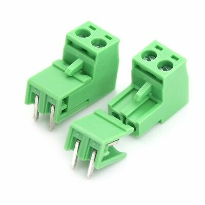 New 20pcs 5.08mm Pitch 2Pin Plug-in Screw PCB Terminal Block Connector