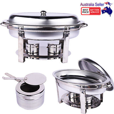 Stainless Steel Bain Marie Chafing Dishes Buffet Food Heater Warmer Oval Shape