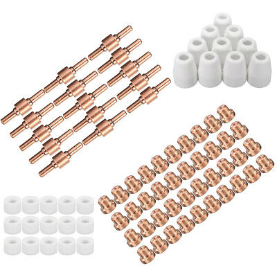 80x Consumables Plasma Cutter Tips Set LG-40 PT-31 For Cutting Torch CUT40 CUT50