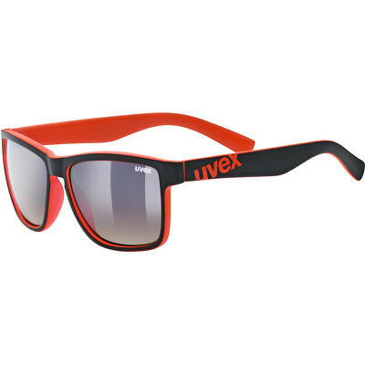 UVEX LGL 39 Lifestyle Glasses black matt red/ltm.brown deg. 2019 Fahrradbrille