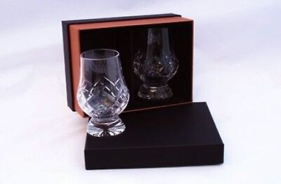 1.9ly - Cut Glencairn Whisky Tasting Nosing Glasses in The New Twin Black/Gold