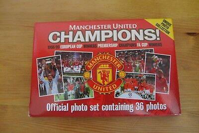 Manchester United Photo Set Official RARE 98/99 Treble Season 36 Photos Boxed