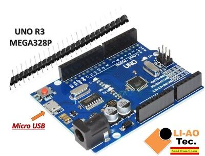 UNO R3 REV3 ATmega328 16U2 CH340 Micro USB Compatible with Arduino