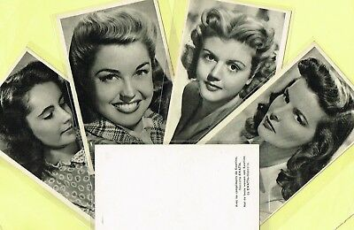 KWATTA - 1940s/1950s Film Star Postcard Size Cards produced in Belgium {STYLE 2}