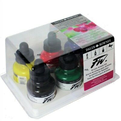 Daler Rowney FW Acrylic Primary Colour Ink Set of 6