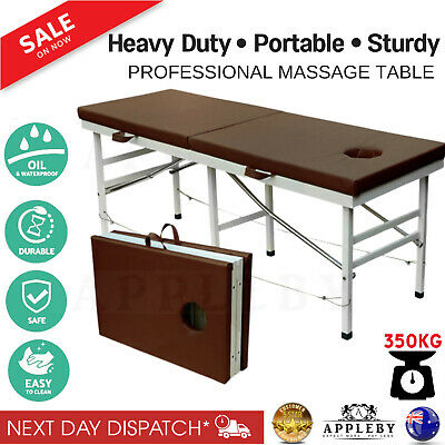 Professional Heavy Duty Aluminium Massage Therapy Table Beauty Bed Portable