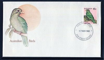 1980 Australia Birds Definitive's 18c Catbird First Day Cover, Mint Condition