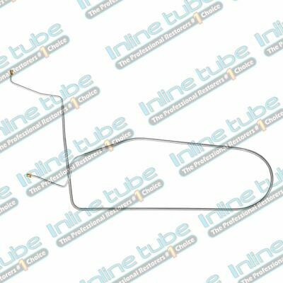 1967 Chevrolet Corvette POWER Disc Front to Rear Brake Line Kit 1pc OEM STEEL