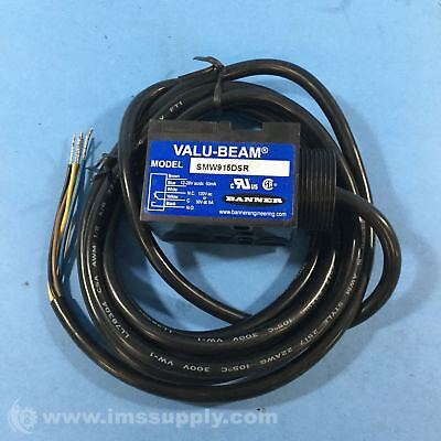 Banner SMW915DSR Photoelectric Sensor, Valu-Beam Rugged FNIP