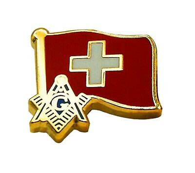 Switzerland  Flag Masonic Lapel Pin LP 44
