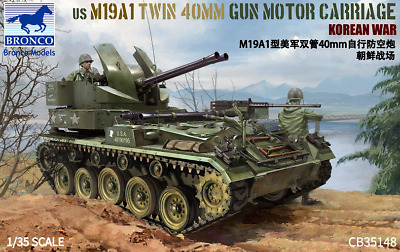 Bronco 1/35 35148 US M19A1 Twin 40mm Gun Motor Carriage Korean War