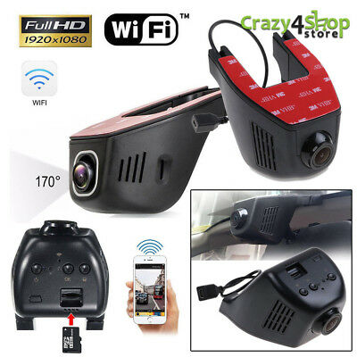 Telecamera Auto Full HD 1080P Hidden WiFi DVR Video Recorder Dash Cam G-sensor