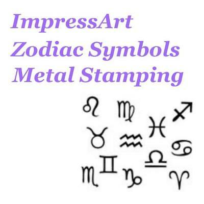 ImpressArt Zodiacs Birth Sign Theme Metal Stamp Punches Stamping Tools Design