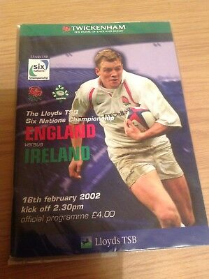 England v Ireland, Six Nations, 16/02/2002