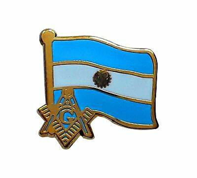 Argentina Masonic Flag Lapel Pin LP 45