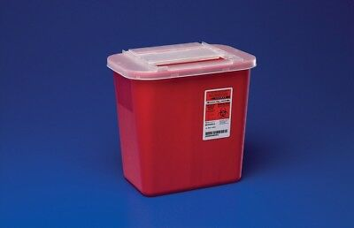 Sharps 2 Gallon Disposable Biohazard Container Red Multi Needle Sharp - 3 PACK!