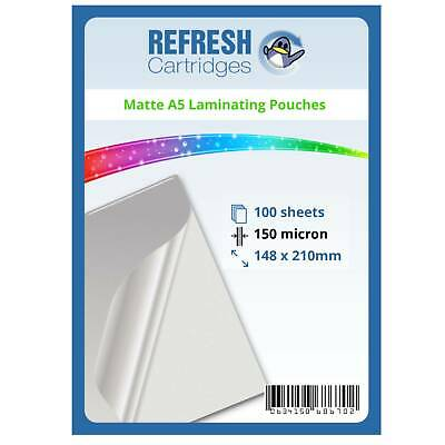 Matte Laminating Pouches A5 150 Micron Pack of 100 Sheets