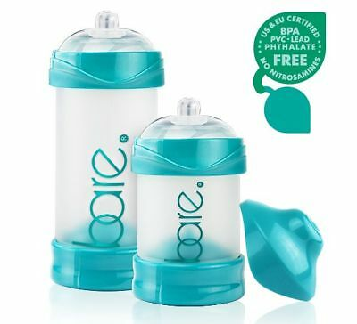 BARE AIR-FREE Baby Bottle Perfe-Latch Nipple 4 oz or 8 oz 1 pack