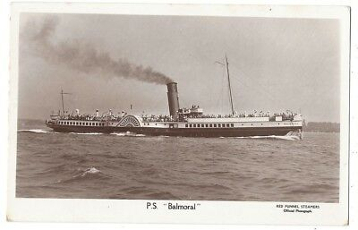 PADDLE STEAMER The Balmoral, RP Postcard, Red Funnel Series Unused