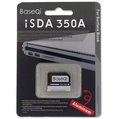 BASEQI Aluminum Minidrive Microsd Adapter For Microsoft Surface Book13.5'' 350A