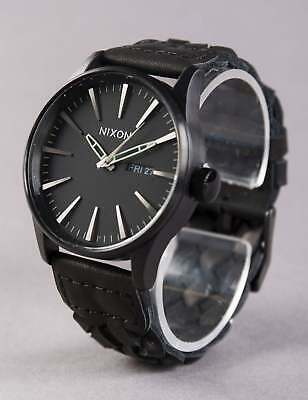 Nixon Sentry Leather Watch - All Black Woven